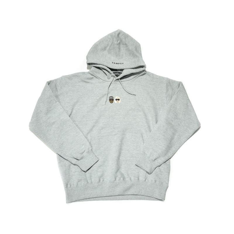 WORLD wide FAMOUS × AMOUR /KIMYE  PULLOVER HOODIE  / GRAY