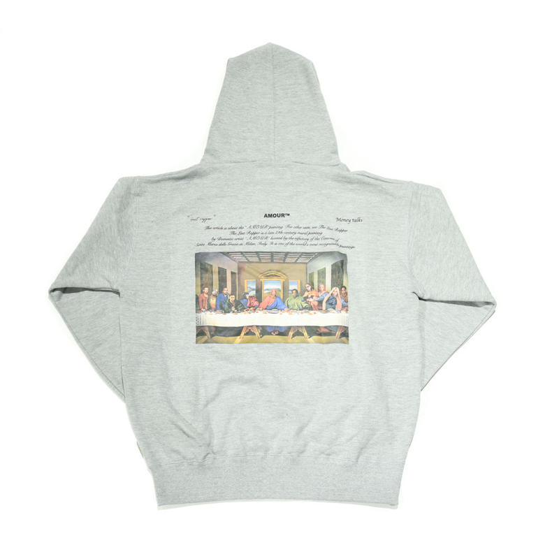 AMOUR / THE LAST RAPPER PULLOVER HOODIE / GRAY