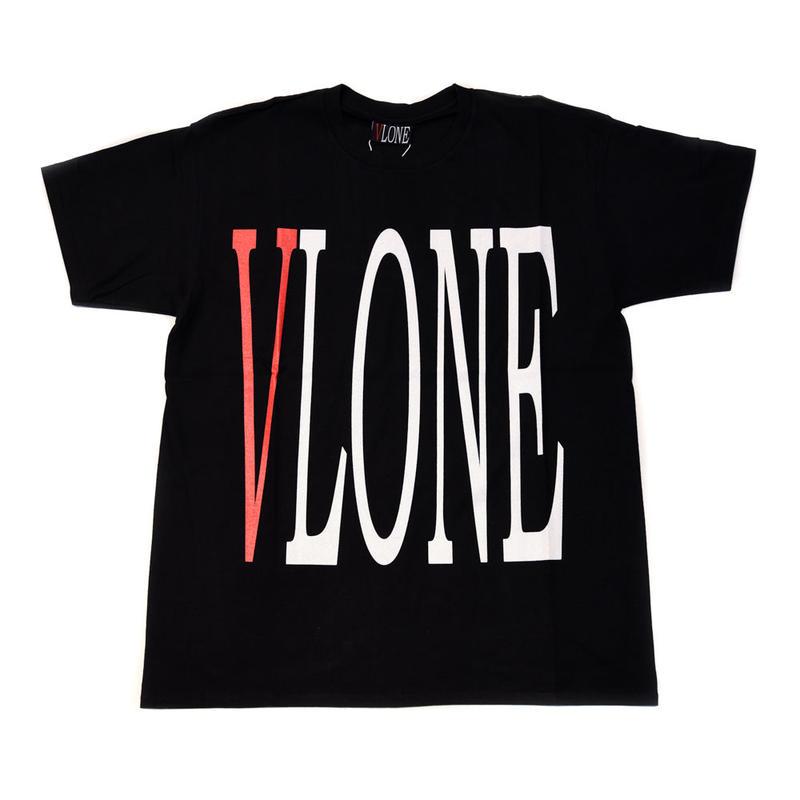 VLONE  LOGO TEE / BLACK _ RED