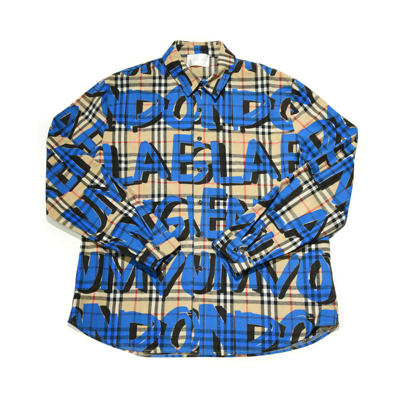 AMOUR / PAINTED CHECK SHIRT / BLUE