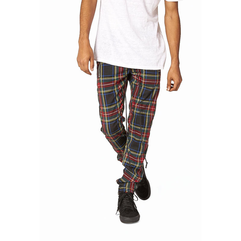mnml   PLAID TRACK  PANTS / BLACK