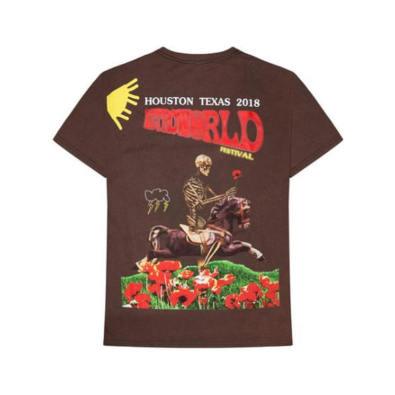 TRAVIS SCOTT ASTRO WORLD / FESTIVAL BLEACHED TEE
