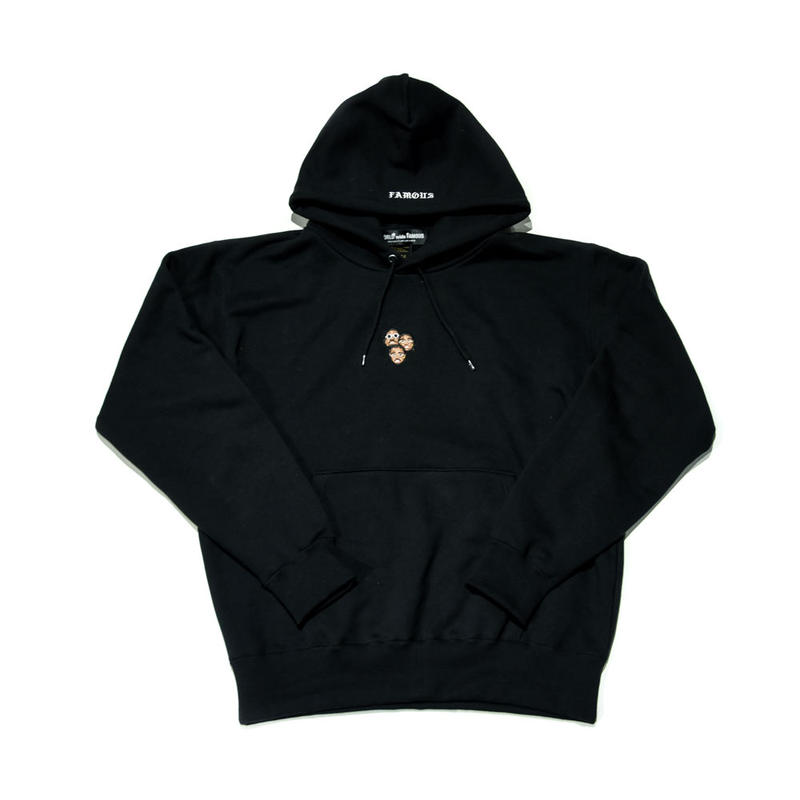 WORLD wide FAMOUS × AMOUR /MIGOS  PULLOVER HOODIE  / BLACK