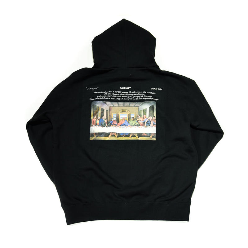 AMOUR / THE LAST RAPPER PULLOVER HOODIE / BLACK