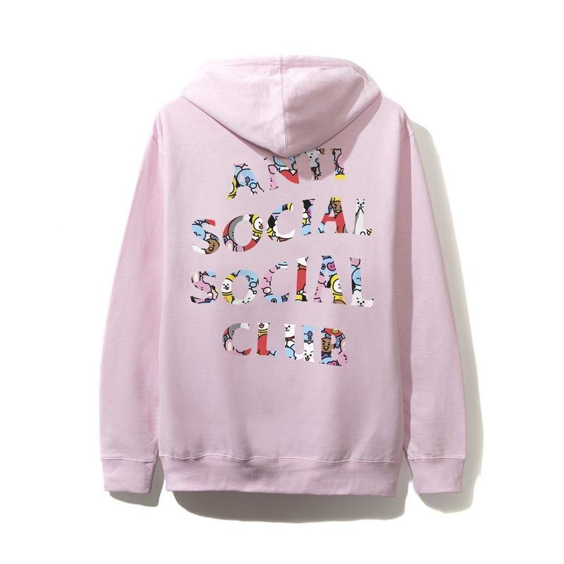 ANTI SOCIAL SOCIAL CLUB / ASSC X BT21 Collab - Blended Pink Hoodie