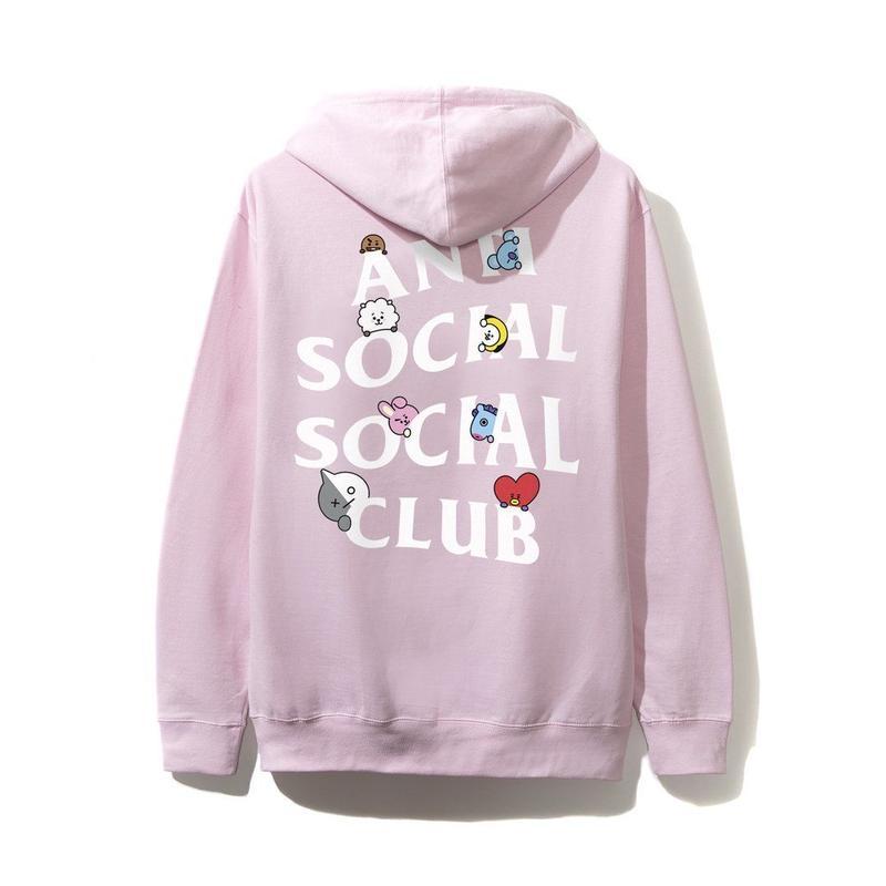 ANTI SOCIAL SOCIAL CLUB / ASSC X BT21 Collab - Peekaboo Pink Hoodie