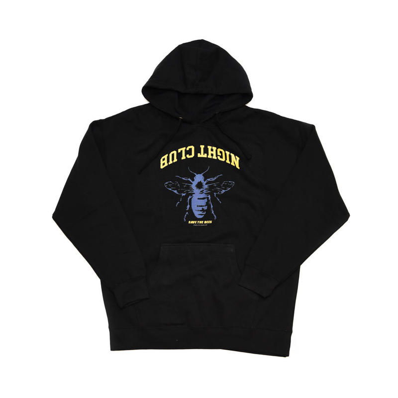 NIGHT CLUB / SAVE THE BEES  PULL OVER HOODIE