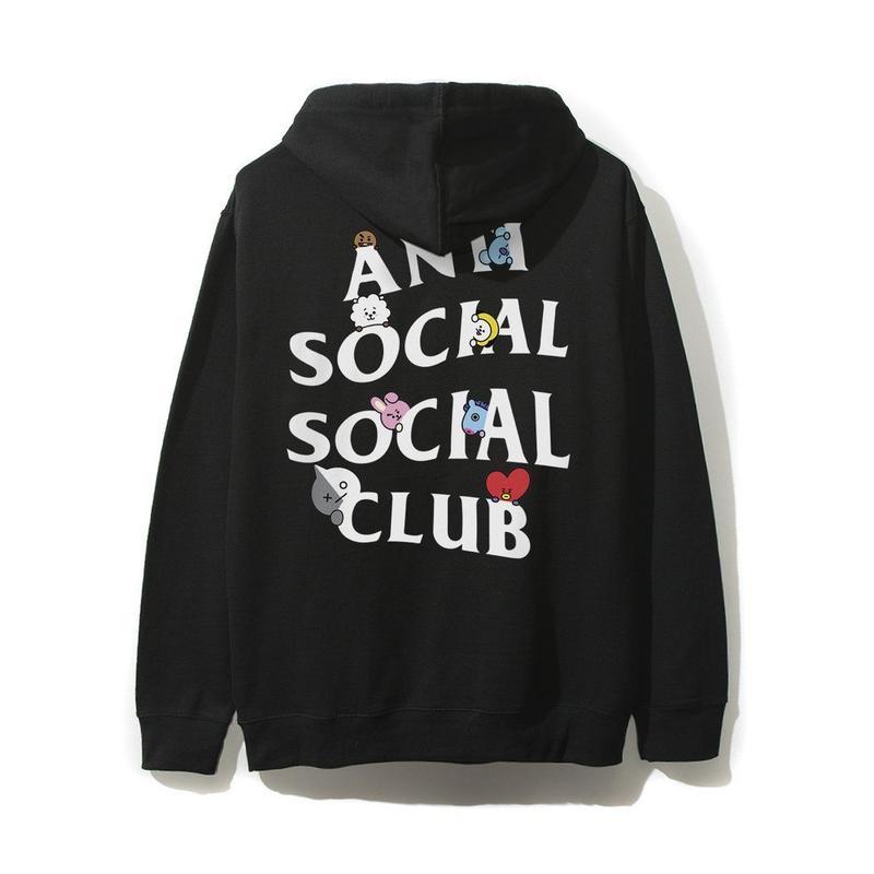 ANTI SOCIAL SOCIAL CLUB / ASSC X BT21 Collab - Peekaboo Black Hoodie