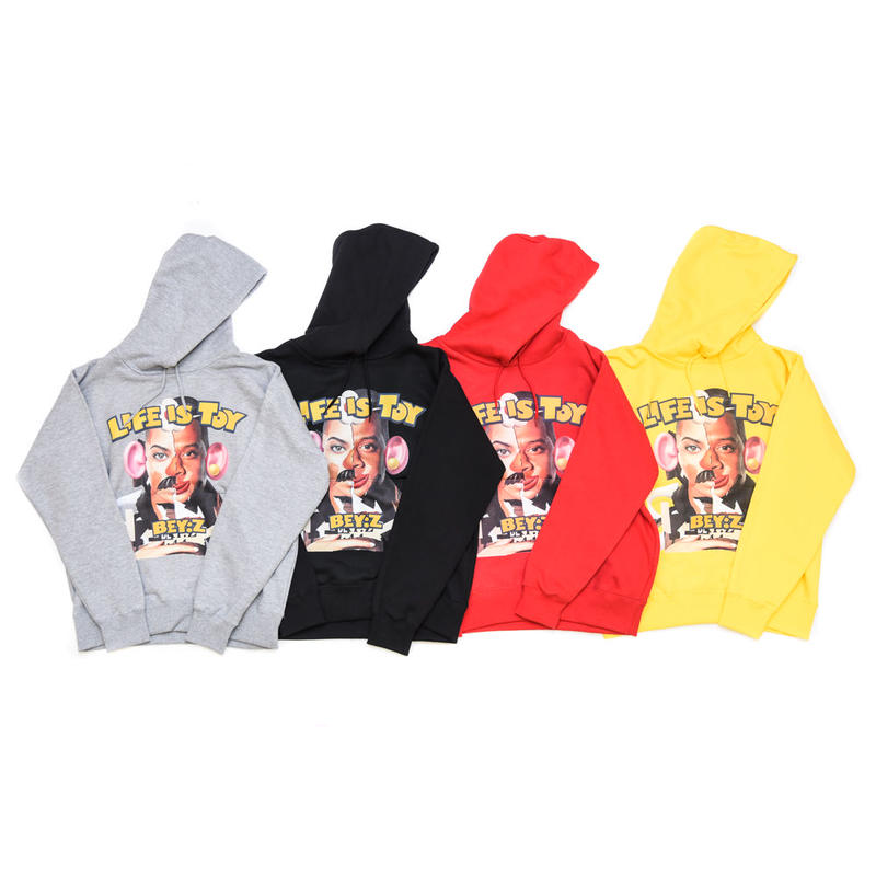 AMOUR /  LIFE IS TOY PULL OVER HOODIE