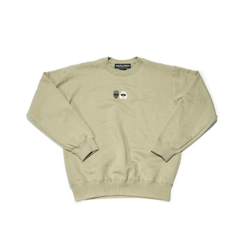 WORLD wide FAMOUS × AMOUR /KIMYE  CREW NECK / BEIGE