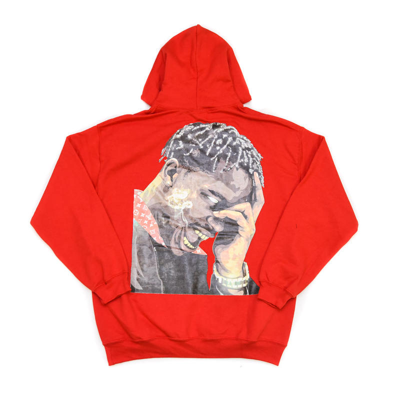 """ARABIA AMOUR PULLOVER HOODIE """"LA FLAME"""" / RED"""