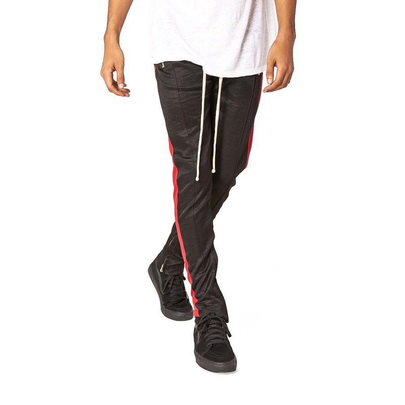 mnml    TRACK  PANTS / BLACK-RED
