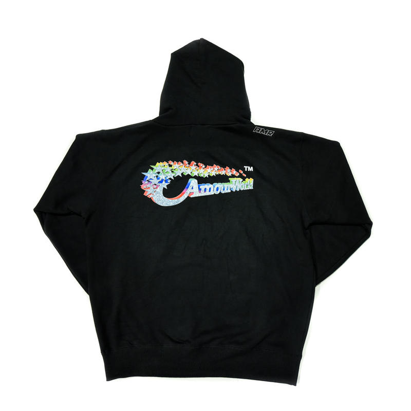 AMOUR / AMOUR WORLD PULLOVER HOODIE / BLACK