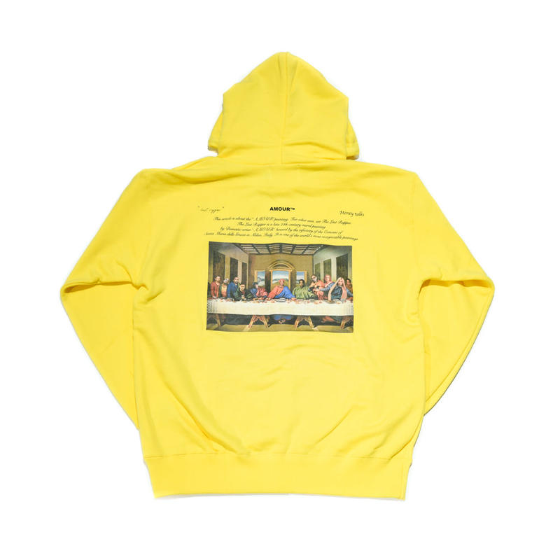 AMOUR / THE LAST RAPPER PULLOVER HOODIE / YELLOW