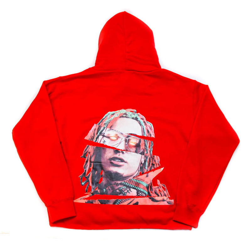 "PULL OVER HOODIE ""GUCCI GANG"" / RED"