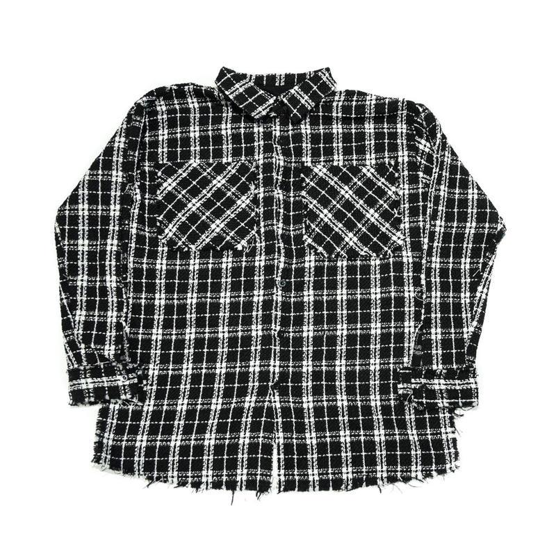 AMOUR / TWEED SHIRT / BLACK
