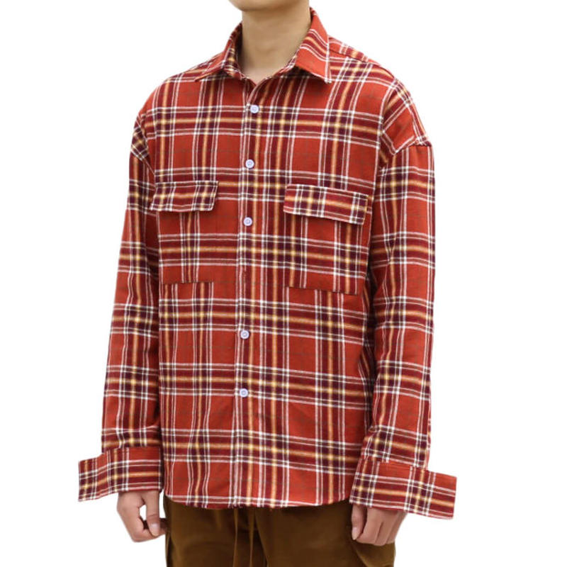 URKOOL / FLANNEL SHIRT / CHECK_RED