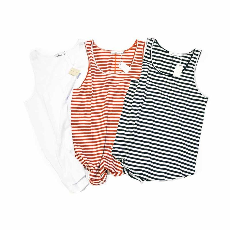 mnml  BASIC TANK / BLACK / RED / WHITE