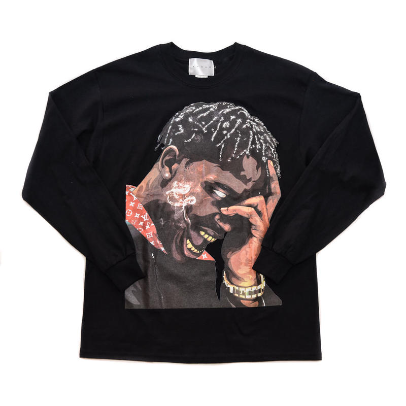 LS TEE LA FLAME / BLACK