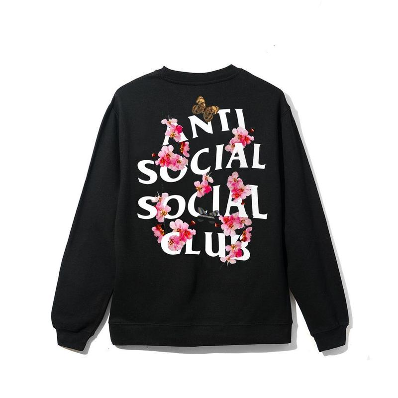 ANTI SOCIAL SOCIAL CLUB Kkoch CREW NECK / BLACK