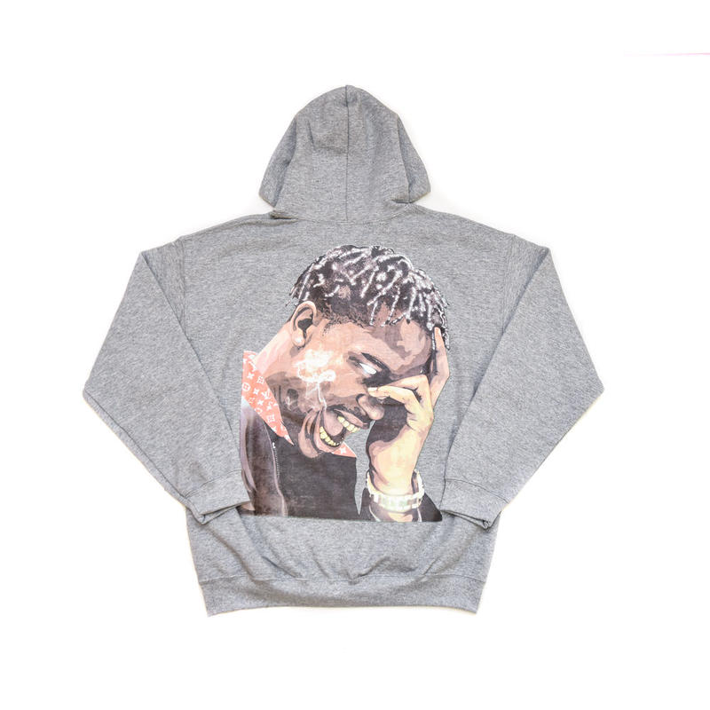 """ARABIA AMOUR PULLOVER HOODIE """"LA FLAME"""" / GRAY"""
