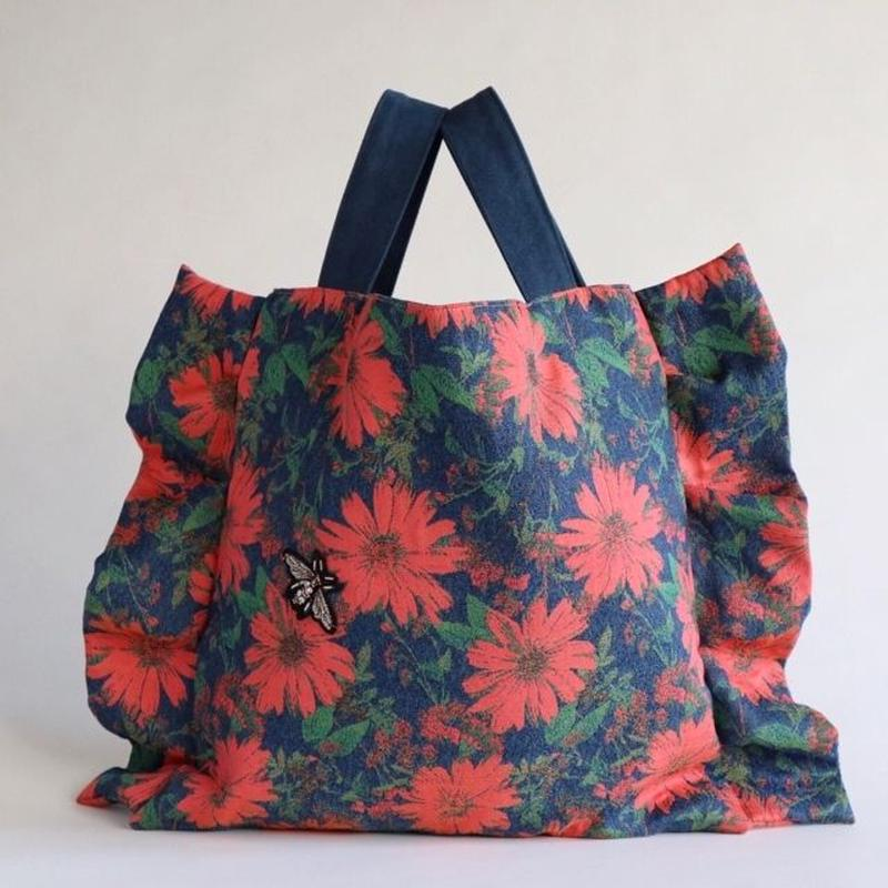 flower frill bag (pink)