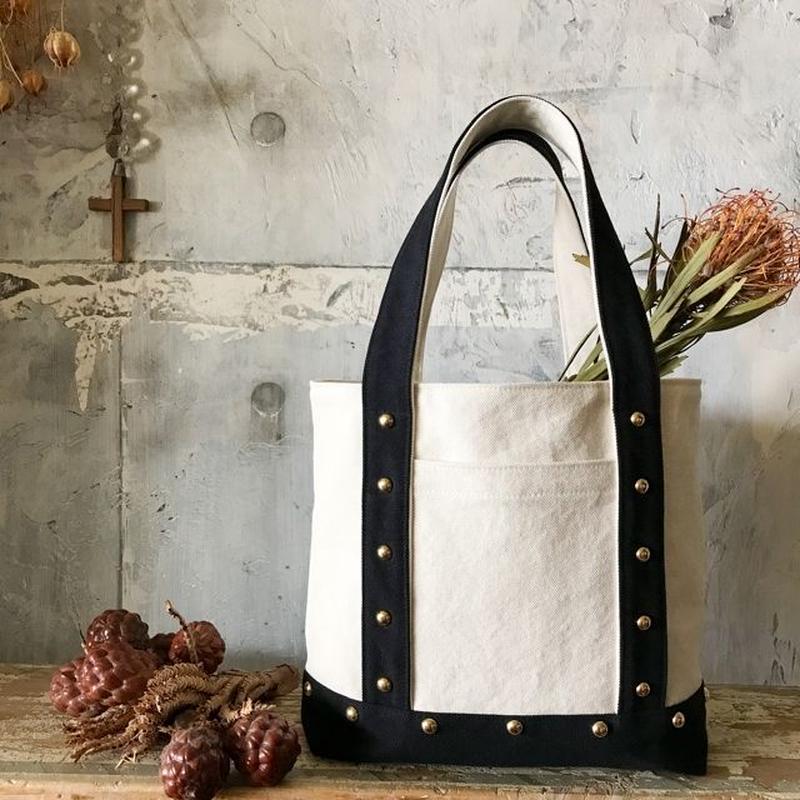 canvas tote bag medium (black&white)