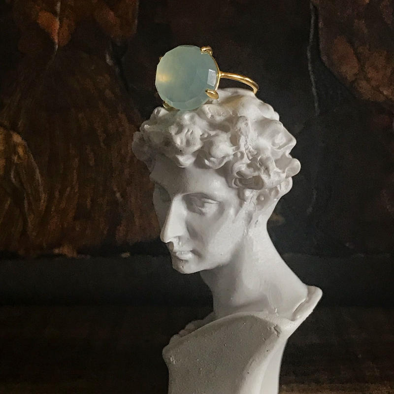chalcedony ring (pastel blue)
