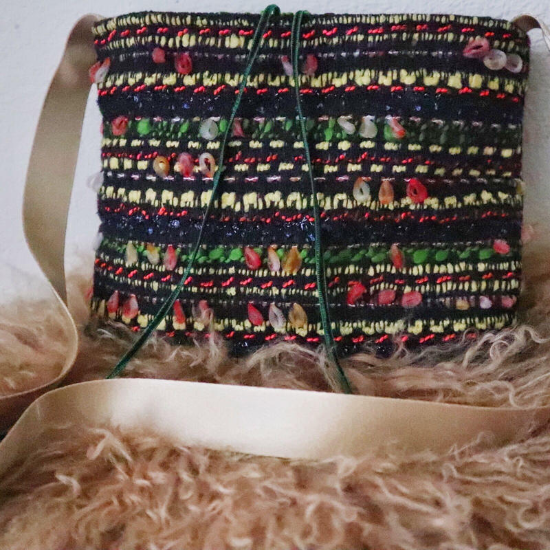 italian tweed pochette  (warm color)