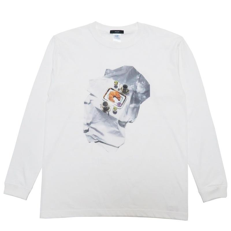 hotel breakfast long sleeve T-shirt (white)