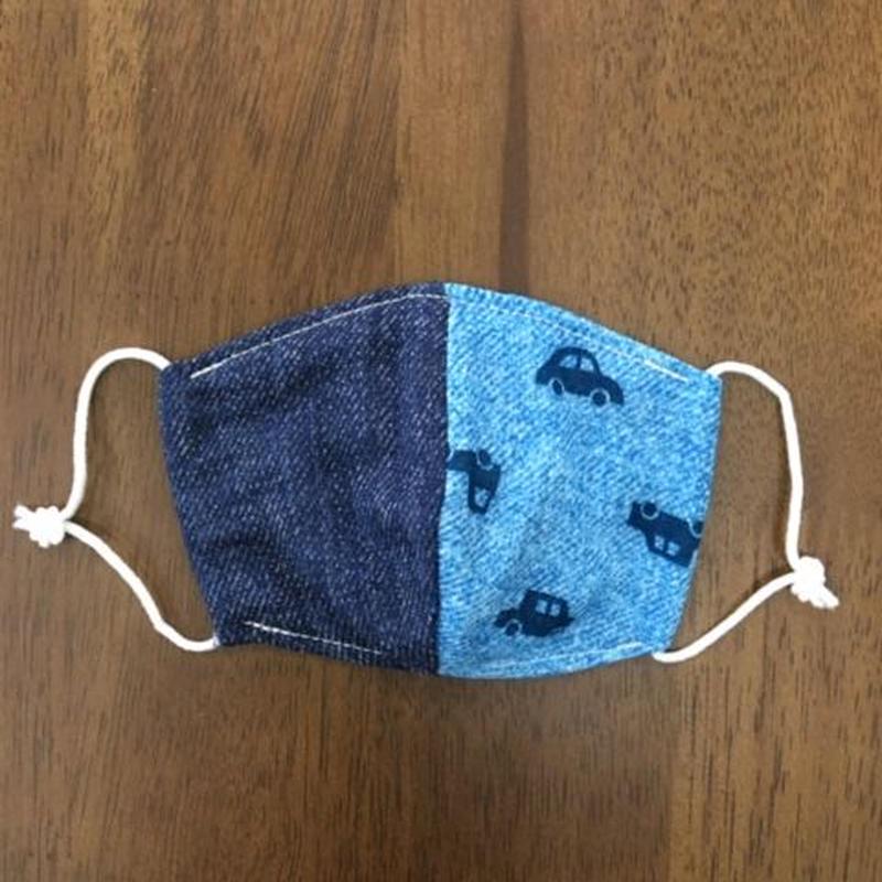 デニム風 car ×デニム baby mask