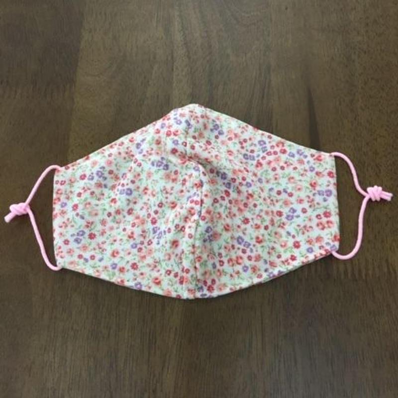 フラワー柄 pink mama mask