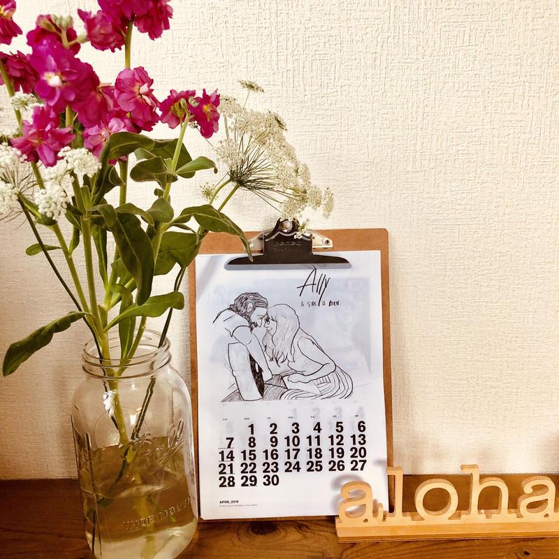 モノクロカレンダー/4月始まり