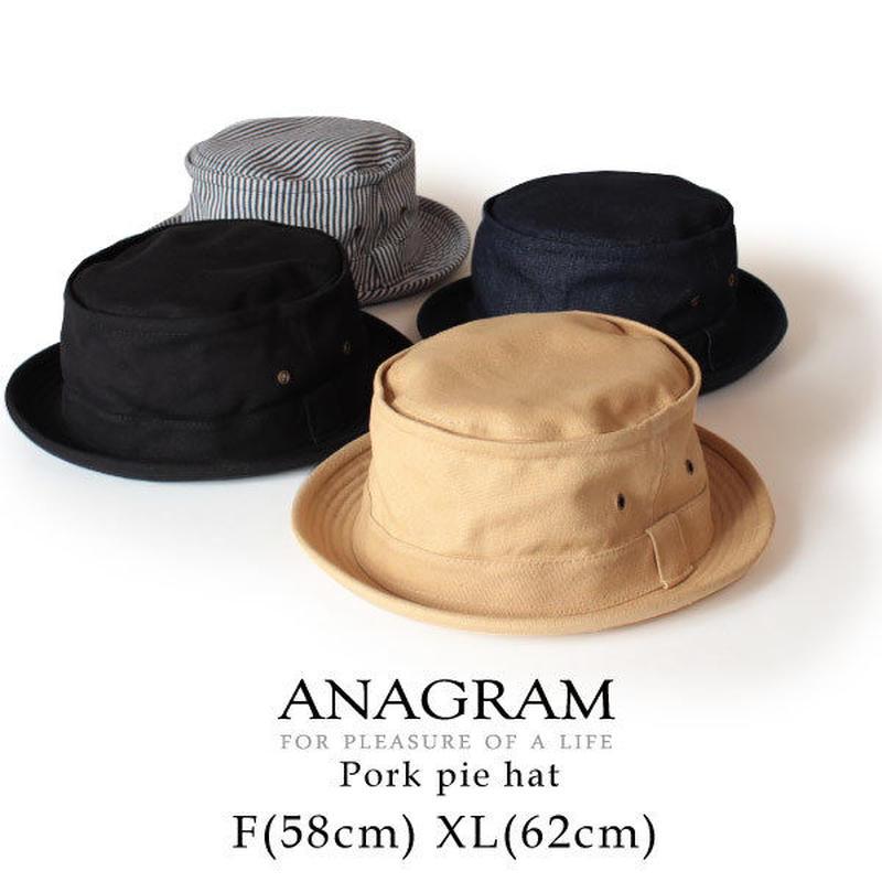 ANAGRAM アナグラム ポークパイハット キャンバス/デニム/ヒッコリー 大きいサイズ 帽子 XLサイズあり AGM1501