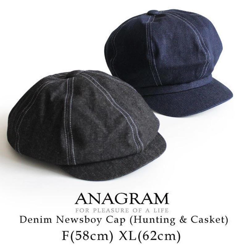 ANAGRAM アナグラム 2way デニムキャスケット ハンチング ニュースキャップ 大きいサイズ 帽子 XLサイズあり AGM1822