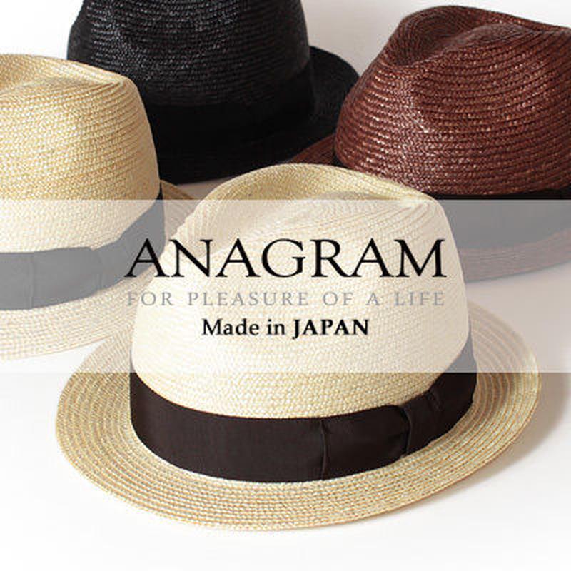 アナグラム 日本製 ストローハット 中折れハット 麦わらハット 麦わら帽子 大きいサイズ 帽子 AGM1400 F56cm~58cm XL60cm~62cm Made in JAPAN AGM1400