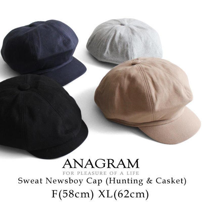 ANAGRAM アナグラム 2way スウェットキャスケット ハンチング ニュースキャップ 大きいサイズ 帽子 XLサイズあり AGM1821