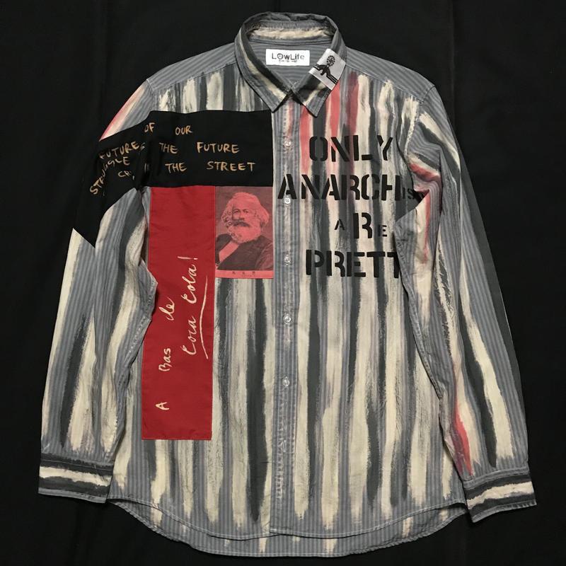 アナーキーシャツ メンズL  ライトグレイ