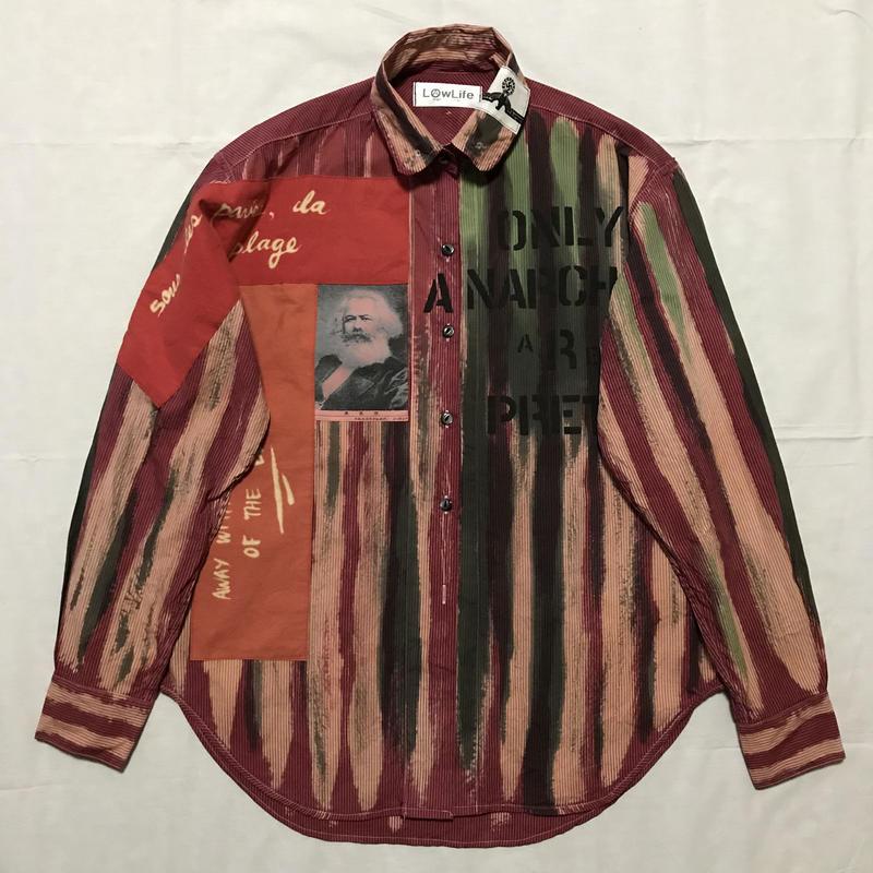 Newアナーキーシャツ メンズM  ライトボルドー028