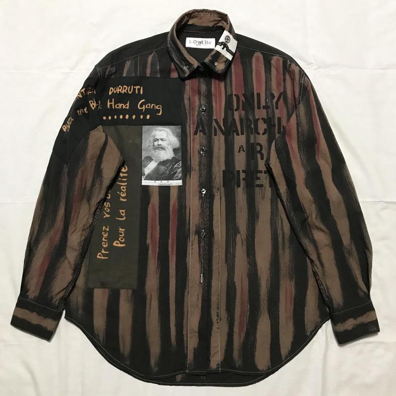 Newアナーキーシャツ メンズL  ライトブラック041