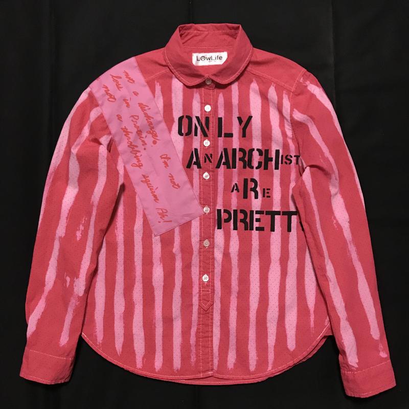 アナーキーシャツ レディースM  ピンク ドット