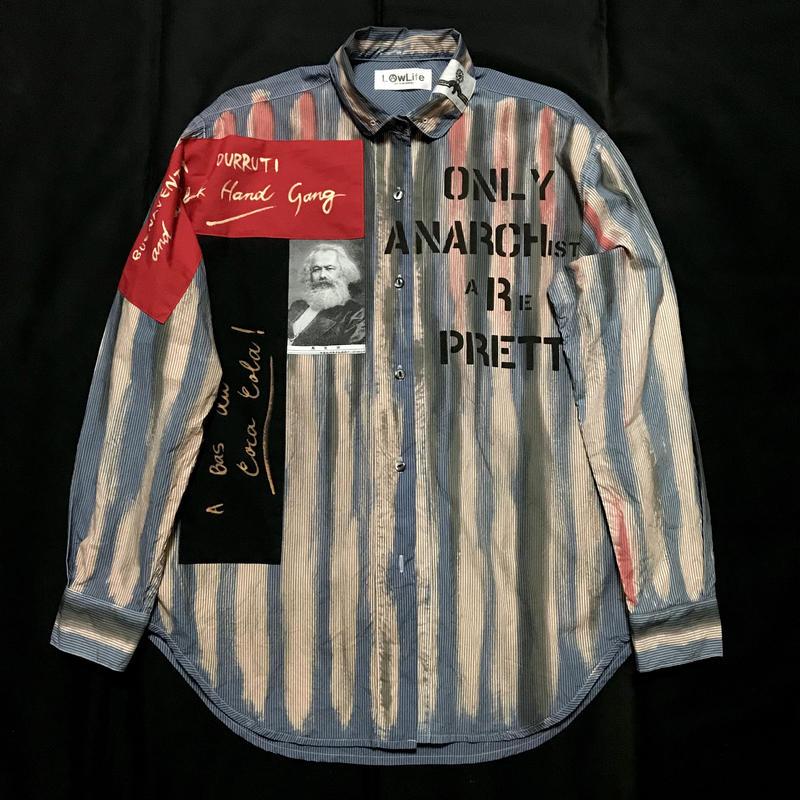 Newアナーキーシャツ メンズXL  ブルー