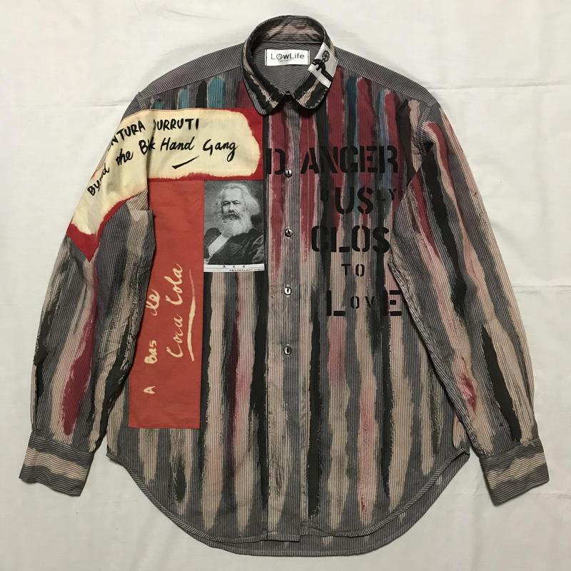 Newアナーキーシャツ メンズM  グレー031