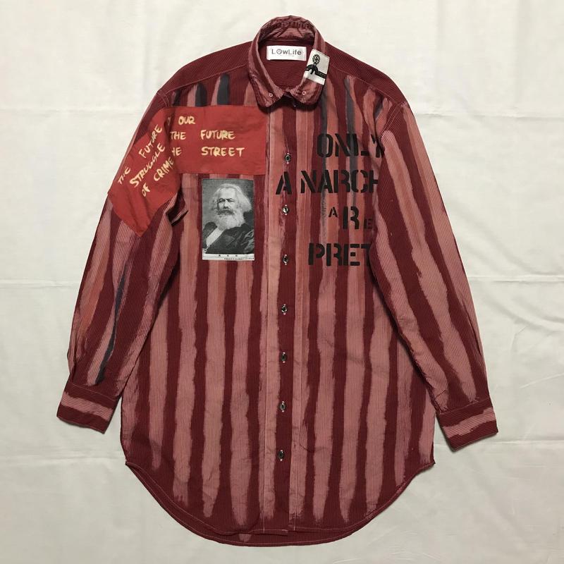 Newアナーキーシャツワンピース レッド020