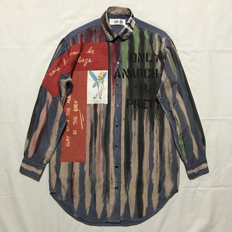 Newアナーキーシャツワンピース   ブルー021