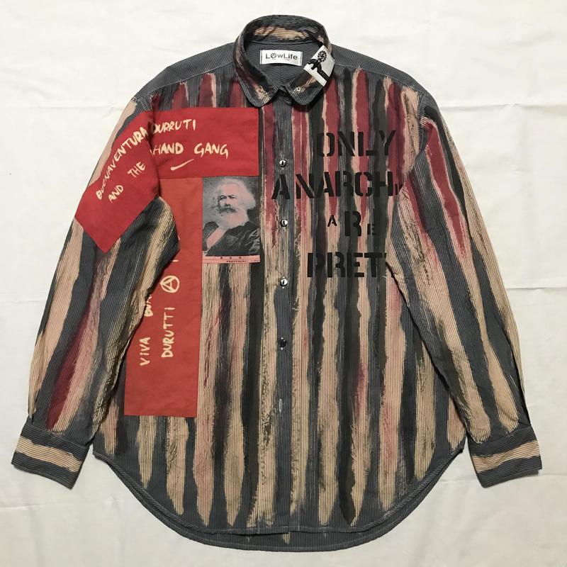 Newアナーキーシャツ メンズL  ブルーグレー029
