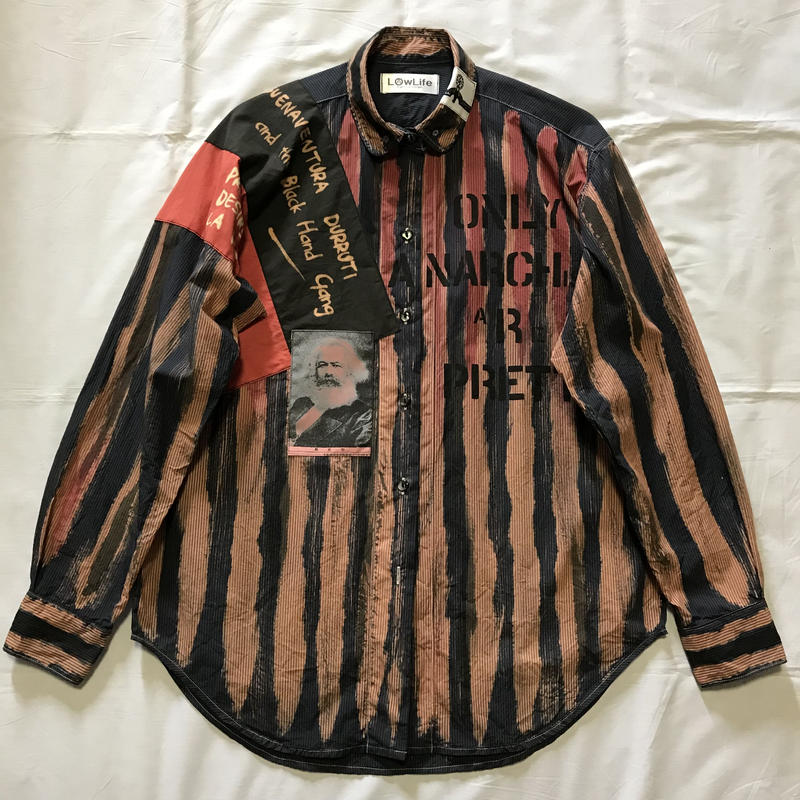 Newアナーキーシャツ メンズL  ディープブルー032