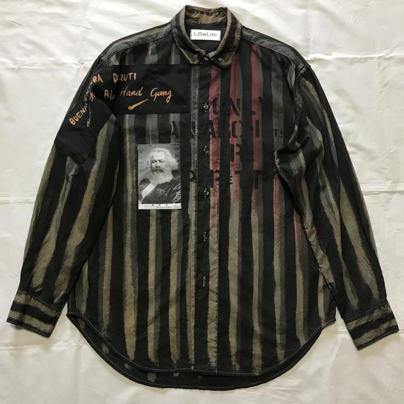 Newアナーキーシャツ メンズL  ブラック024