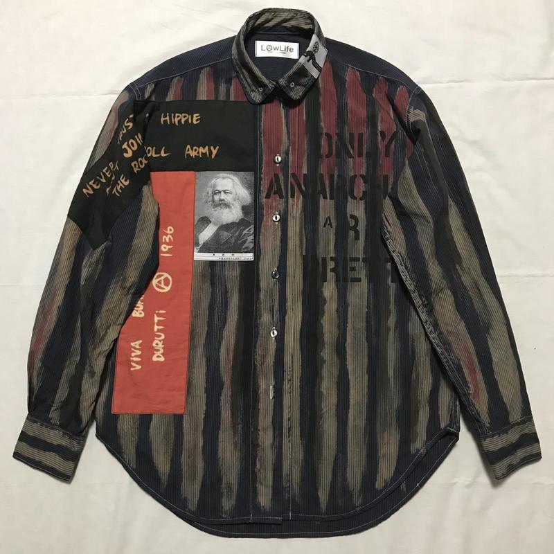 Newアナーキーシャツ メンズM  ディープブルー033