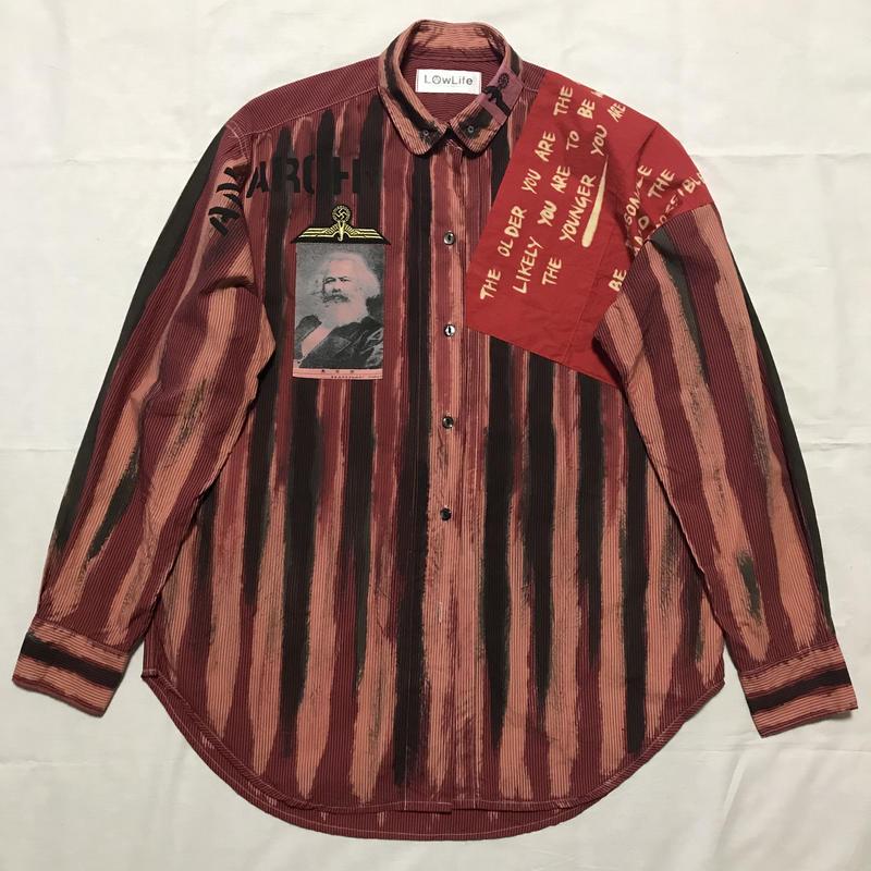 Newアナーキーシャツ メンズL  レッドジョニー 040